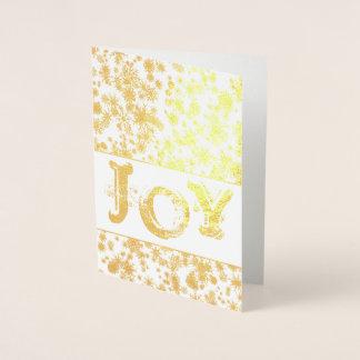 Gold Foil JOY Christmas Greeting Card
