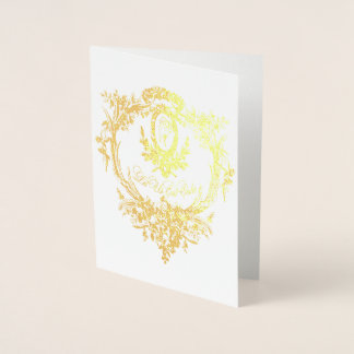 Gold Foil Let Them Eat Cake Folding Card