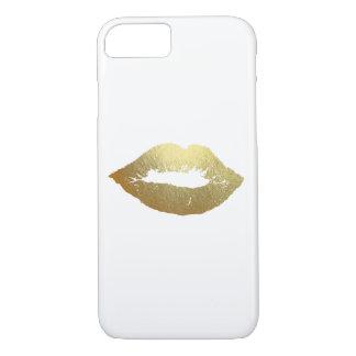 Gold Foil Lips Fashion Device Case