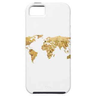Gold Foil Map iPhone 5 Covers