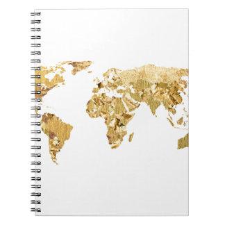 Gold Foil Map Notebook