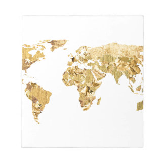 Gold Foil Map Notepad