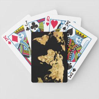 Gold Foil Map Poker Deck