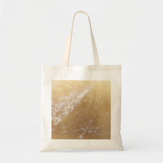 gold foil marble tote bag