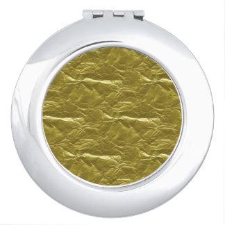 Gold Foil Mirror For Makeup
