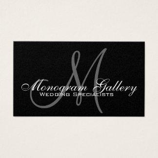 Gold Foil Monogram Customizable Business Card