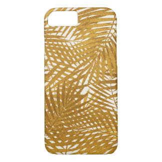 Gold Foil Palm Leaves iPhone 8/7 Case
