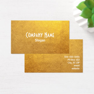 Gold Foil Photo Business Card