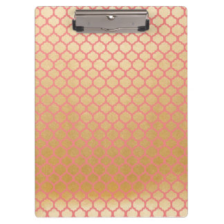 Gold foil photo pink clipboard