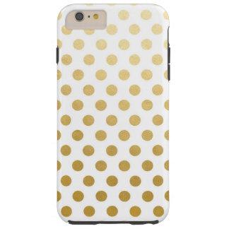 Gold Foil Polka Dots iPhone 6/6s Plus, Tough Tough iPhone 6 Plus Case