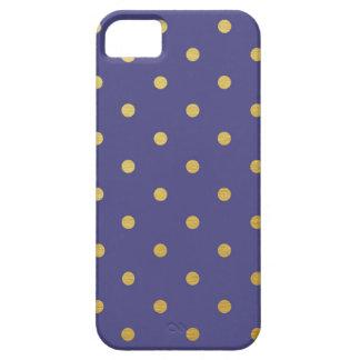 Gold Foil Polka Dots Modern Purple Metallic iPhone 5 Case