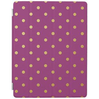 Gold Foil Polka Dots Modern Purple Metallic iPad Cover