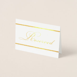 Gold Foil Reserved Card with Classic Borders