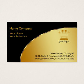 Gold Foil Retro Crown logo Financial Services