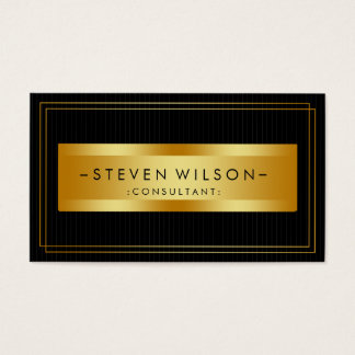Gold Foil Retro Elegant Financial Services Business Card