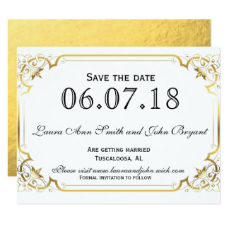 Gold foil Save the Date Card