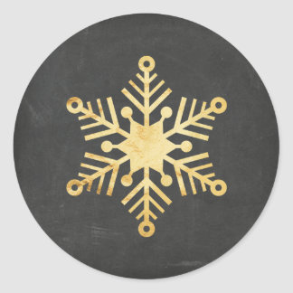 Gold Foil Snowflake Christmas Stickers