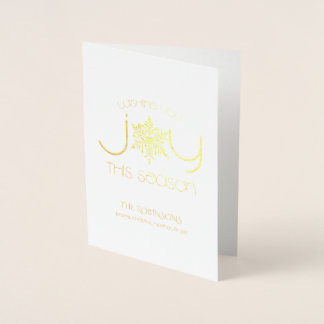 Gold Foil Snowflake Joy Card