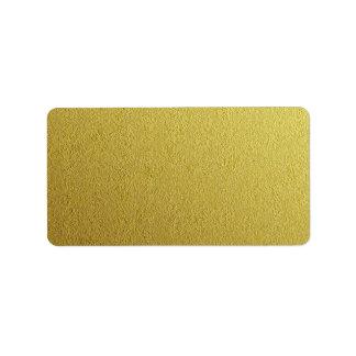 Gold Foil Textured Template Address Label