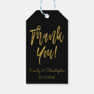 Gold Foil Thank You Gift Tag with Custom Name