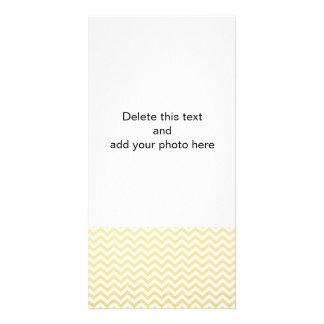 Gold Foil White Chevron Pattern Personalised Photo Card