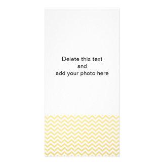 Gold Foil White Chevron Pattern Photo Card Template