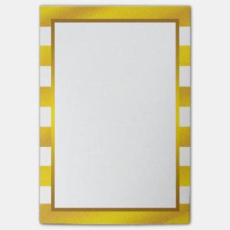 Gold Foil White Golden Stripe clean Post-it Notes