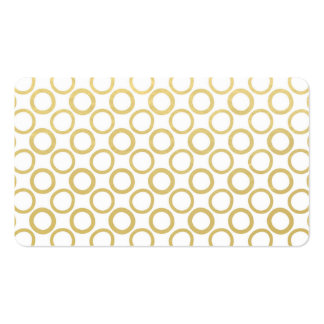 Gold Foil White Polka Dots Pattern Business Card Templates