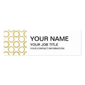 Gold Foil White Polka Dots Pattern Business Card Template