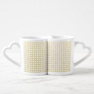 Gold Foil White Polka Dots Pattern Lovers Mug