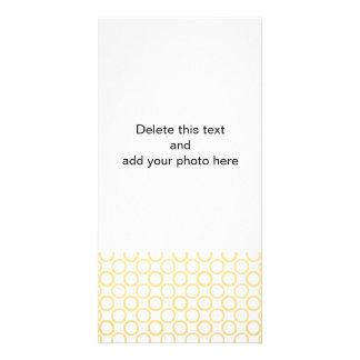 Gold Foil White Polka Dots Pattern Custom Photo Card