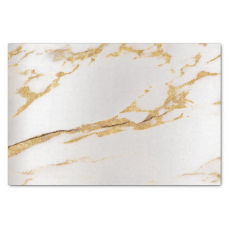 Gold Foxier Silver Marble Metallic Abstract Tissue Paper