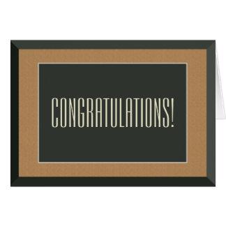 Gold Framed Bear Groom Gay Wedding Congratulations Greeting Card