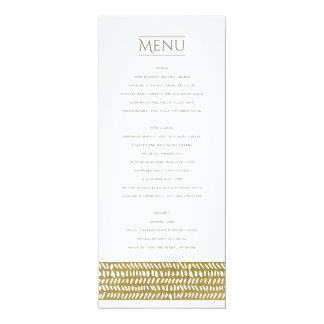 GOLD FREEHAND BRUSH STROKE PATTERN MENU CARD