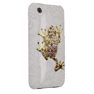 Gold Frog Jewel Photo Paisley Lace iPhone 3G Case iPhone 3 Case-Mate Cases