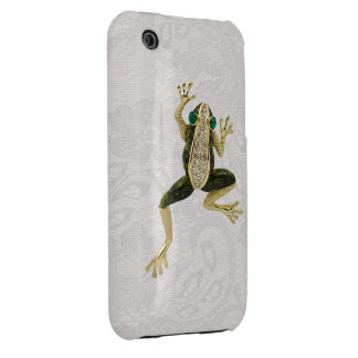 Gold Frog Jewel Photo Paisley Lace iPhone 3G Case iPhone 3 Cases