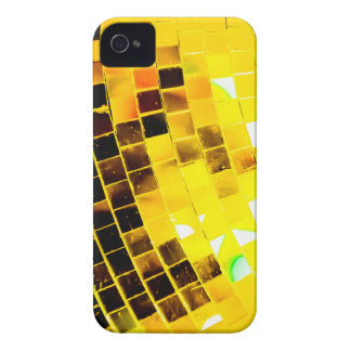 Gold Funky Disco Ball iPhone 4 Cases