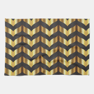 gold gatsby chevron towels