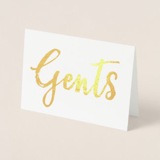 Gold Gents Special Occasion Wedding Sign Foil Card