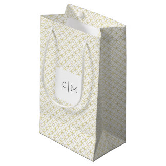 Gold Geometric Monogram 'Shippo' Wedding Gift Bag