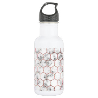 Gold,geometry,marble,pattern,modern,elegant,chic,e 532 Ml Water Bottle