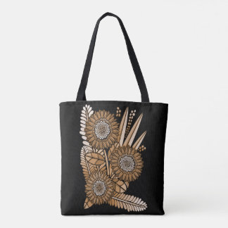 Gold Gerbera Daisy Flower Bouquet Tote Bag
