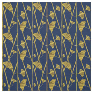 gold ginkgo fabric