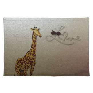Gold Giraffe Placemat