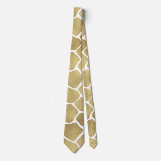 Gold Giraffe Print Tie