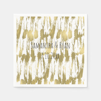 Gold Glam Abstract Disposable Napkin