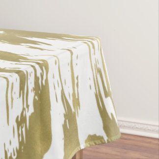 Gold Glam Abstract Tablecloth