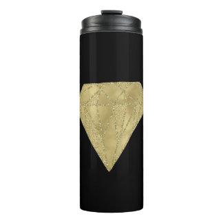 Gold Glam and Black Diamond Thermal Tumbler