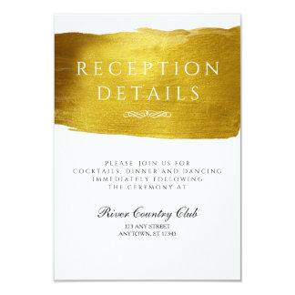 Gold Glam and Elegant Wedding Reception card