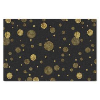 Gold Glam Bokeh Confetti Dots Tissue Paper
